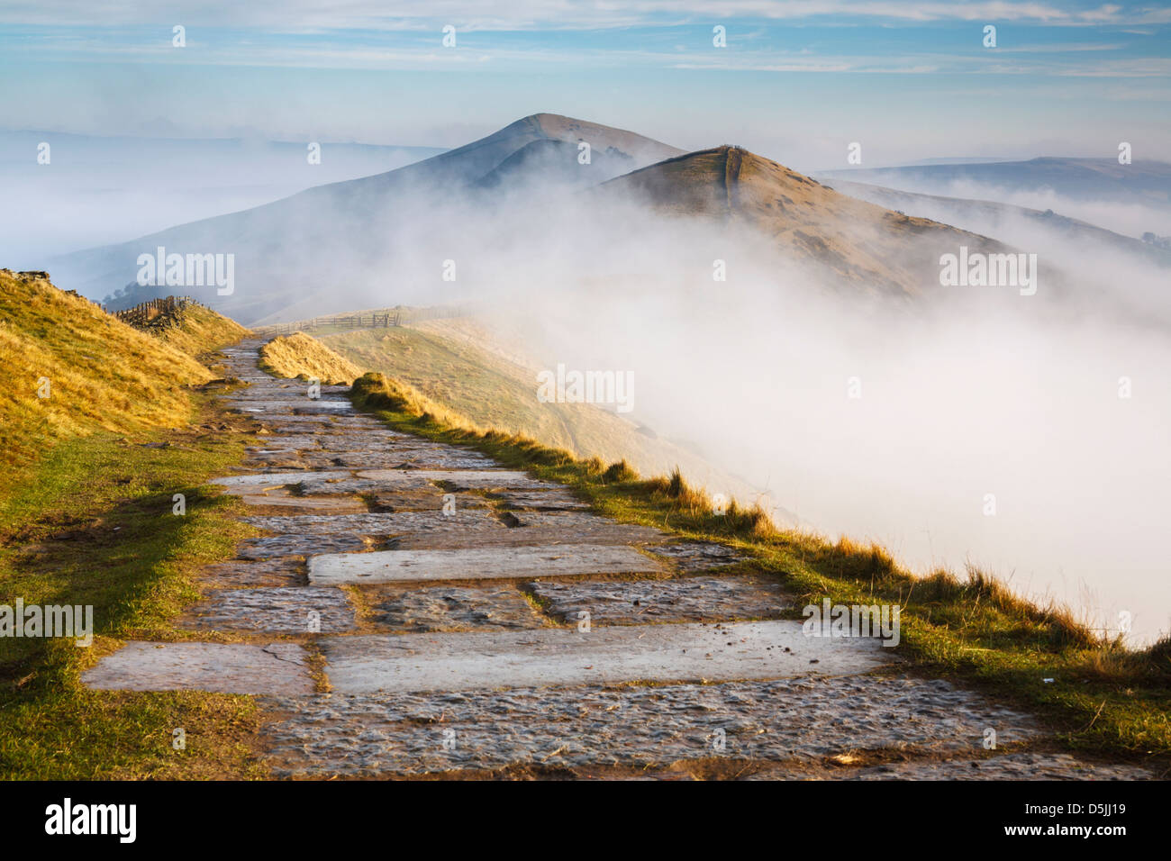 The great ridge near Mam Tor in the Peak District National Park - Stock Image