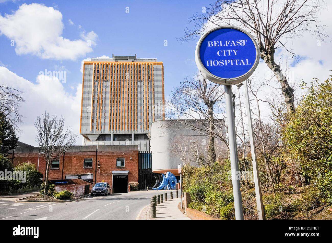 Belfast City Hospital - Stock Image