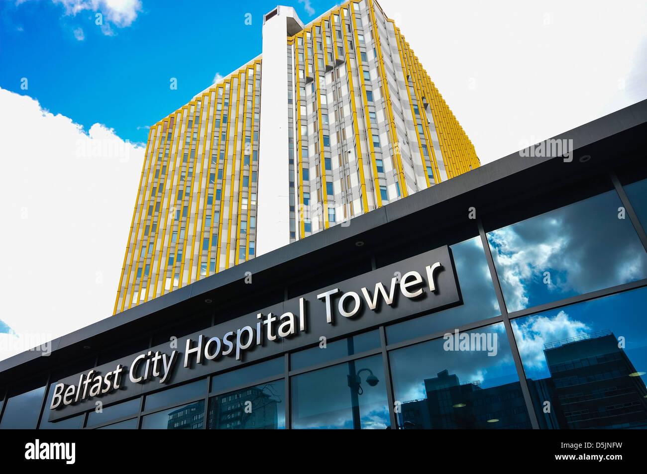 Belfast City Hospital Tower Block - Stock Image