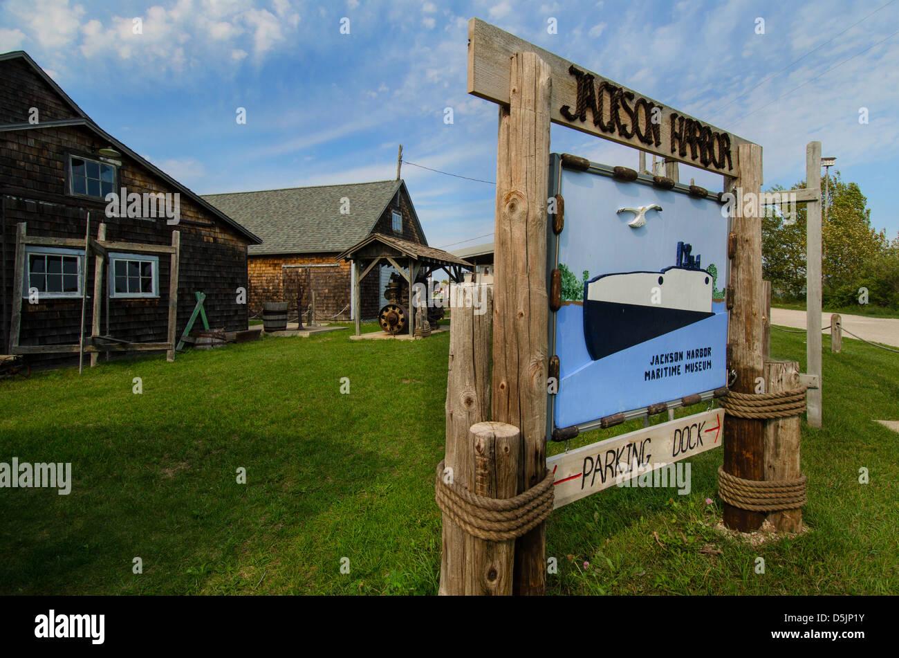 Jackson Harbor Maritime Museum  in the Door County town of Jackson Harbor,  Wisconsin - Stock Image