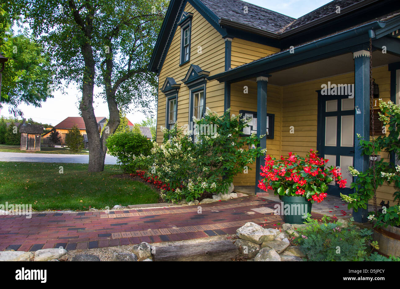 Corner of the Past Museum and the Anderson House Museum in the Door County town of Sister Bay, Wisconsin - Stock Image