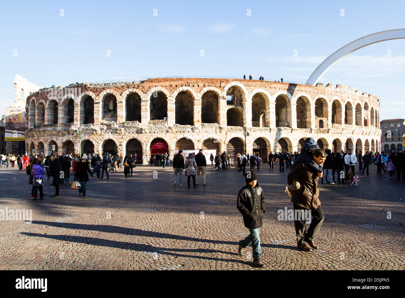 Arena di Verona (Verona Arena). - Stock Image