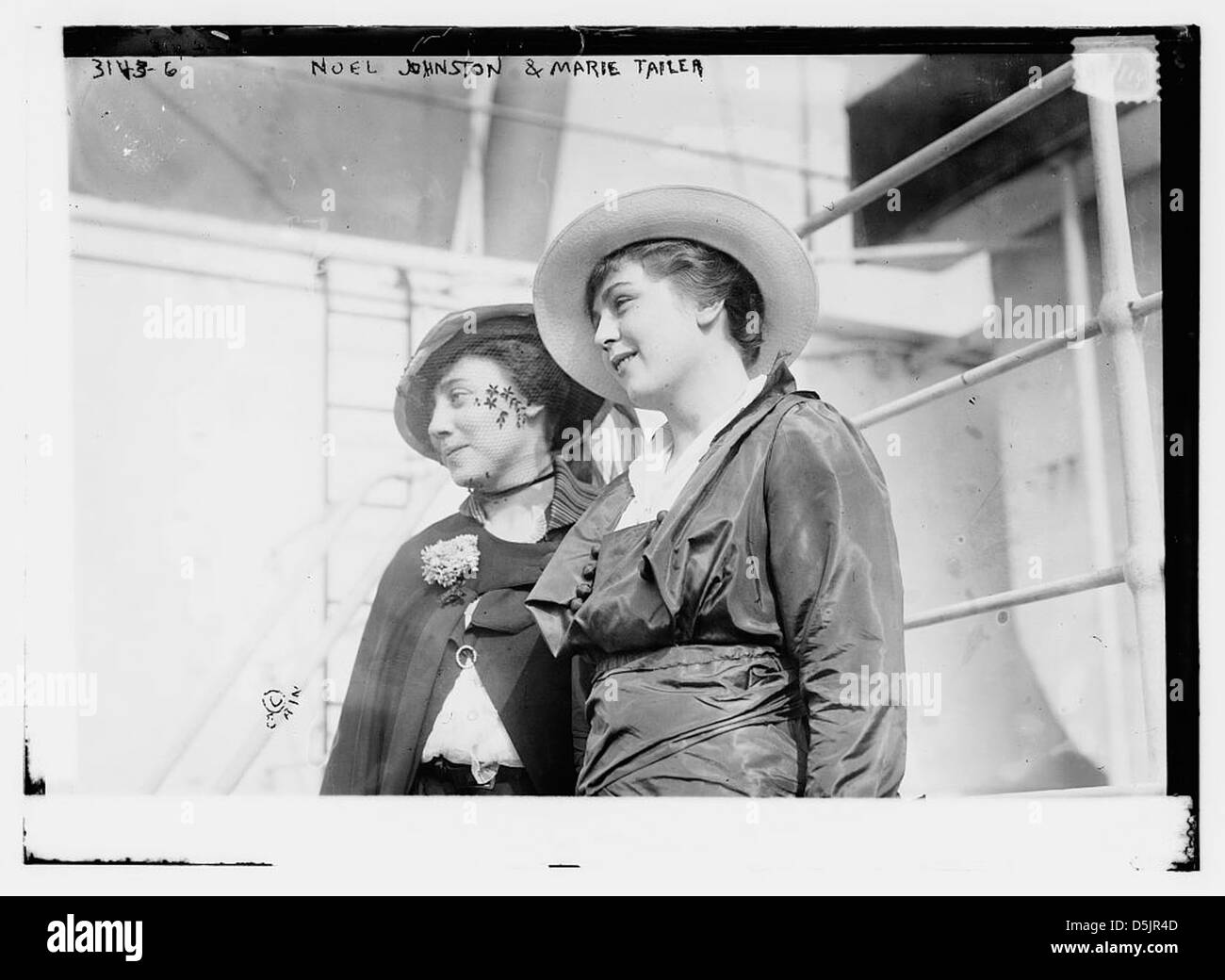 Noel Johnston and Marie Tailer (LOC) - Stock Image