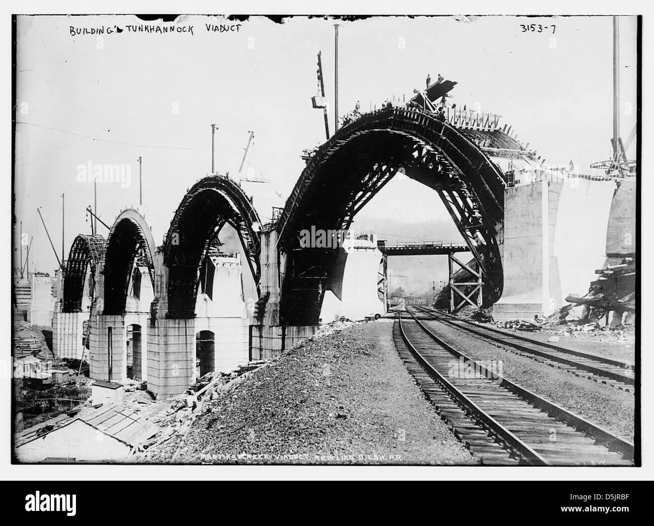 Bldg.[i.e., Building] Tunkhannock Viaduct [Martin's Creek Viaduct] (LOC) - Stock Image