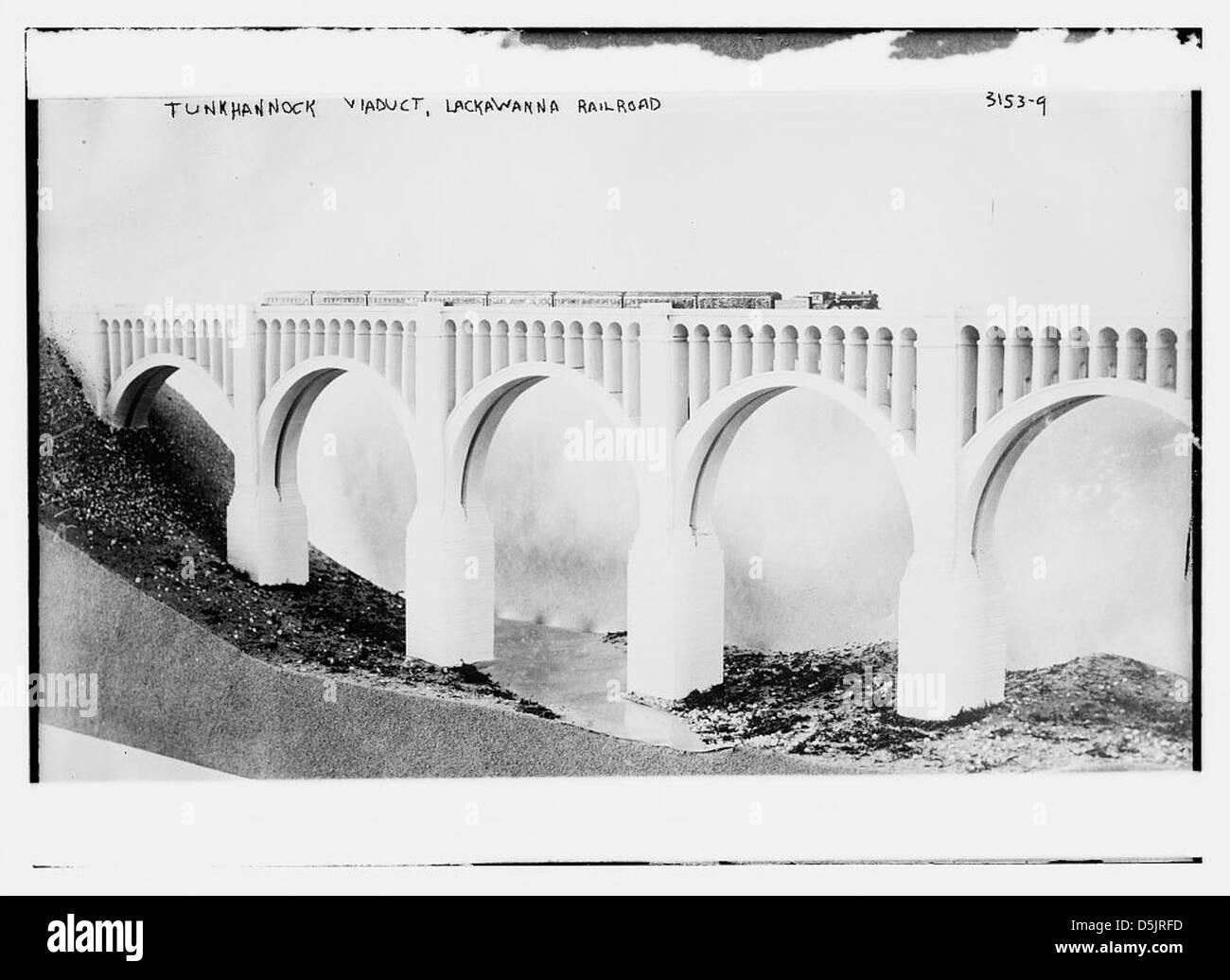 Tunkhannock Viaduct, Lackawanna RR (LOC) - Stock Image