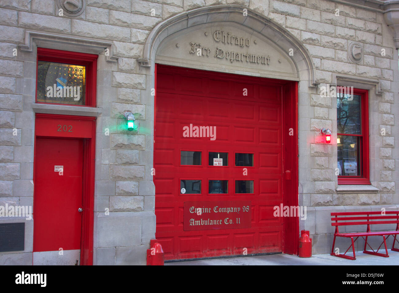 Engine Company 98 Chicago. Oldest Firehouse In City.