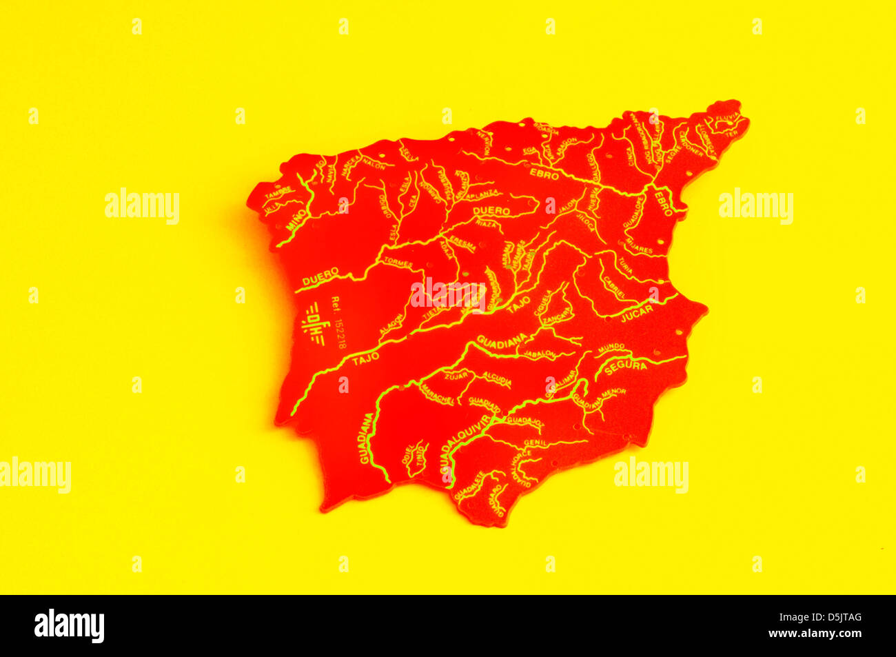 Country Of Spain Map.Spain Map Yellow Red Country European Country Cee Stock Photo