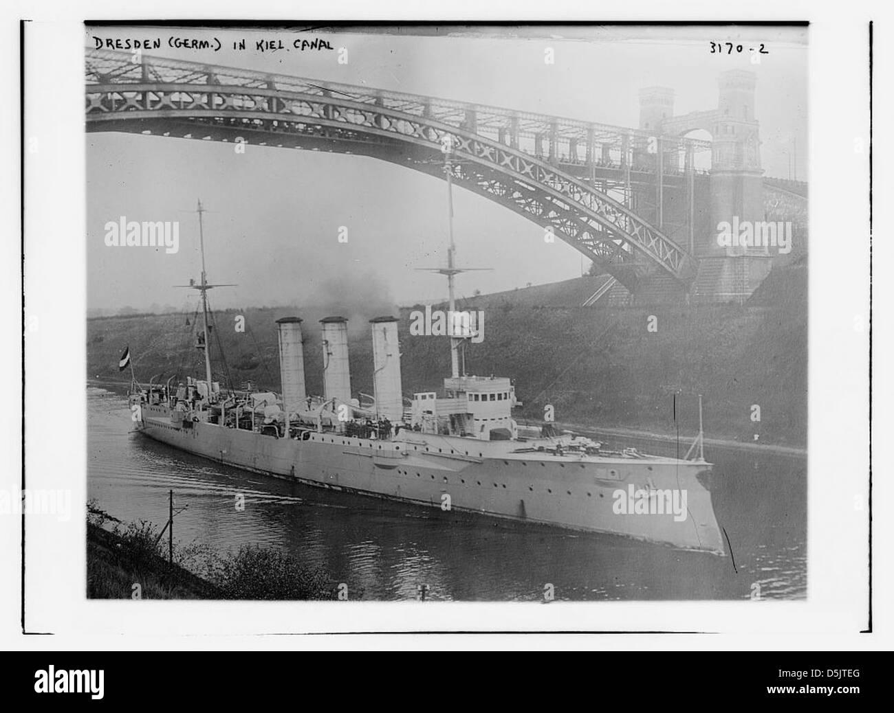 DRESDEN (Germ.) in Kiel Canal (LOC) - Stock Image
