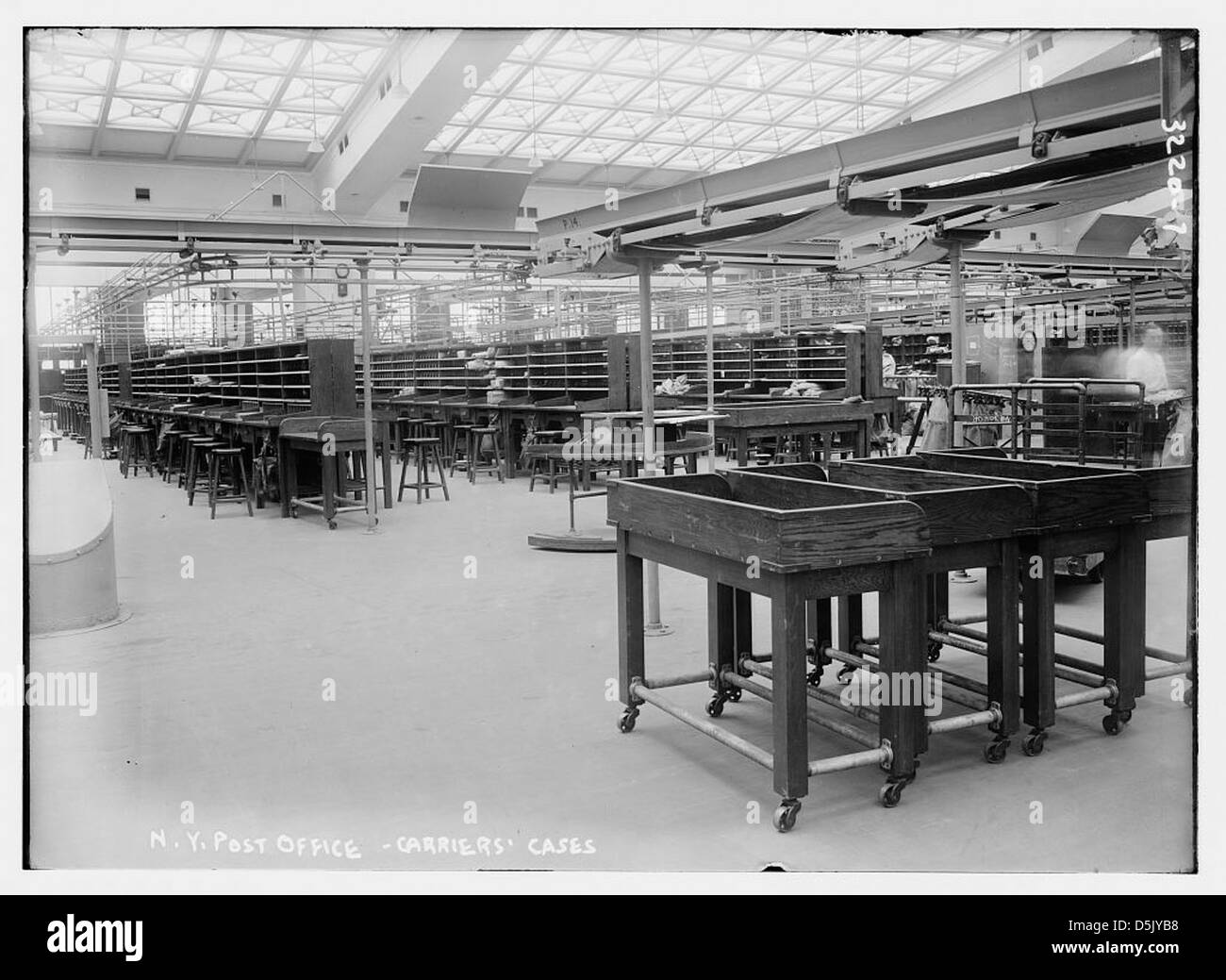 N.Y. Post Office -- Carriers' Cases (LOC) - Stock Image