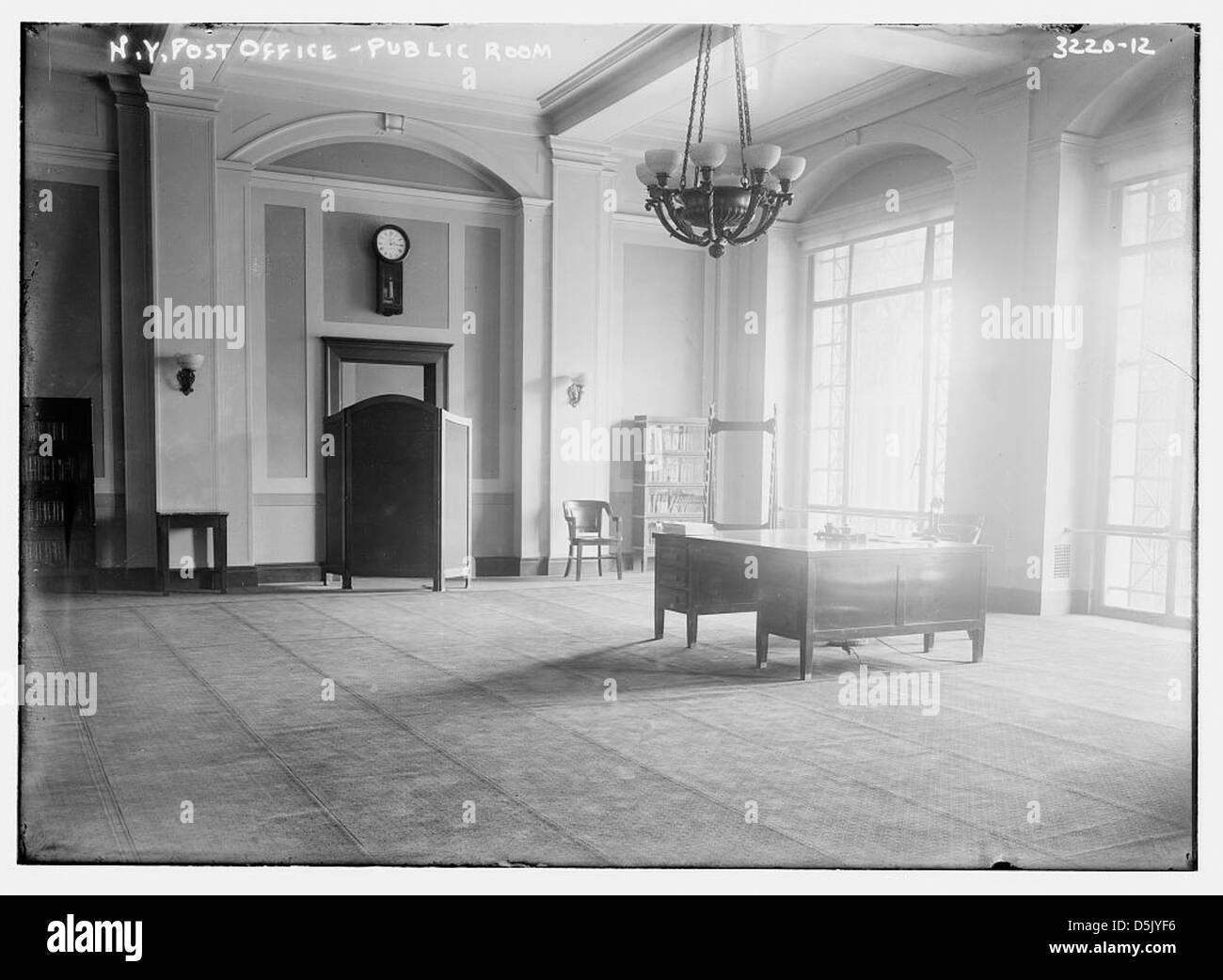 N.Y. Post Office -- Public Room (LOC) - Stock Image
