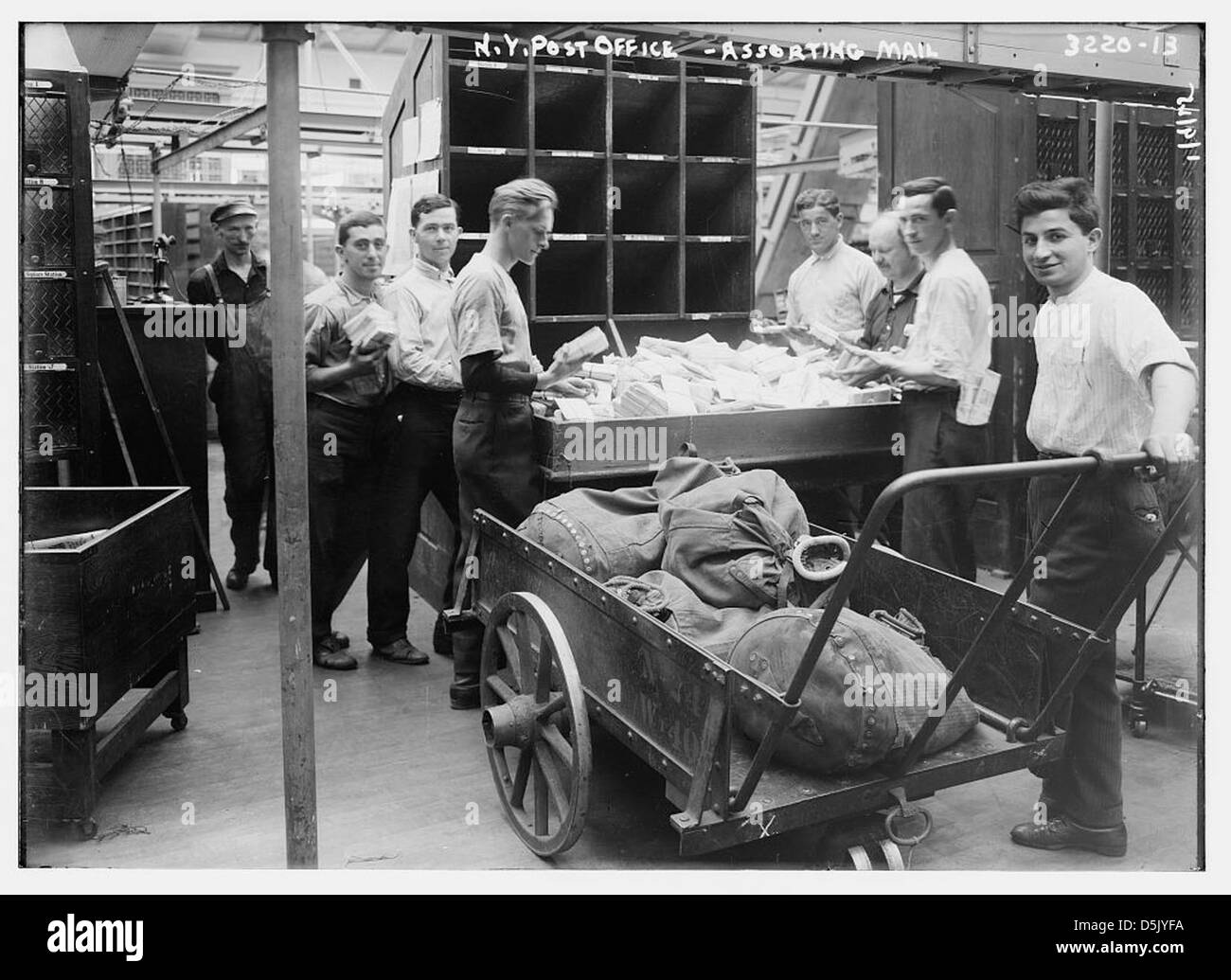 N. Y. Post Office -- assorting [i.e., sorting] mail (LOC) - Stock Image