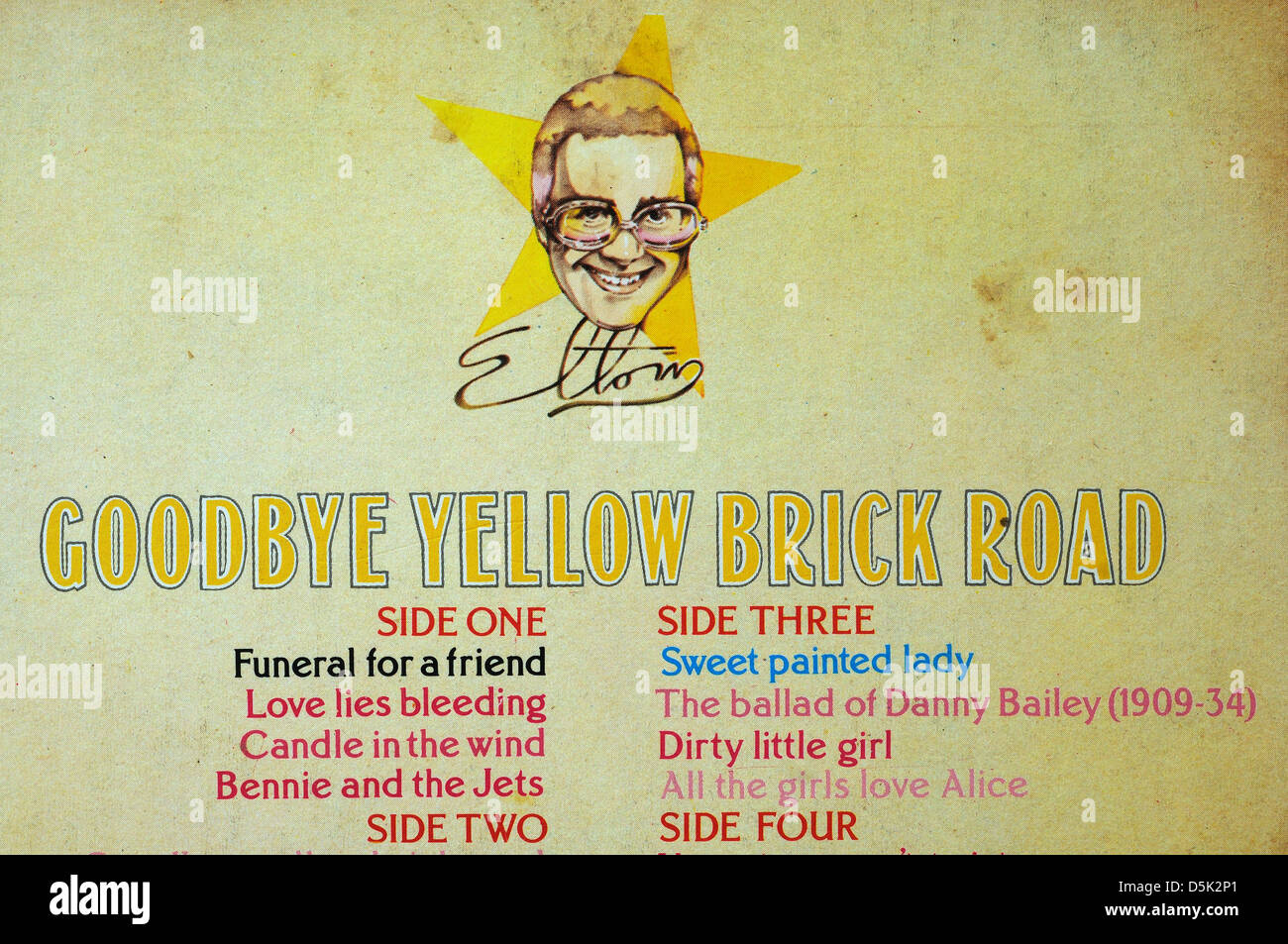 Candle in the Wind by Elton John on the Goodbye Yellow Brick Road album - Stock Image