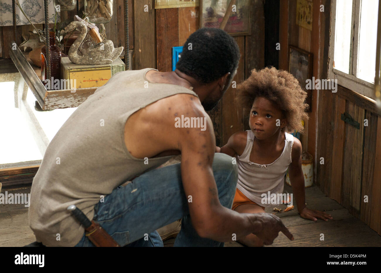 DWIGHT HENRY & QUVENZHANE WALLIS BEASTS OF THE SOUTHERN WILD (2012) - Stock Image
