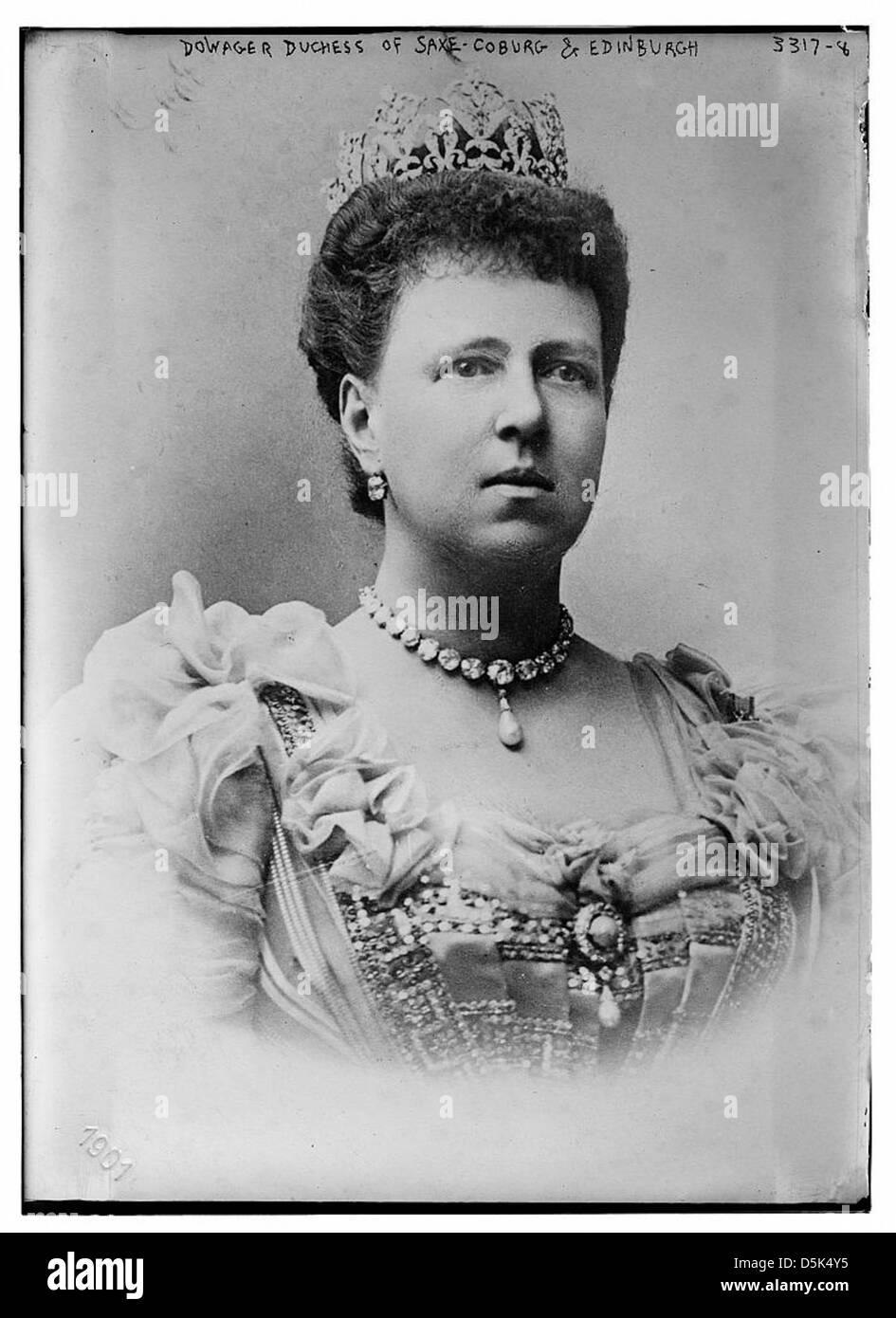 Dowager Duchess of Saxe-Coburg and Edinburgh (LOC) - Stock Image