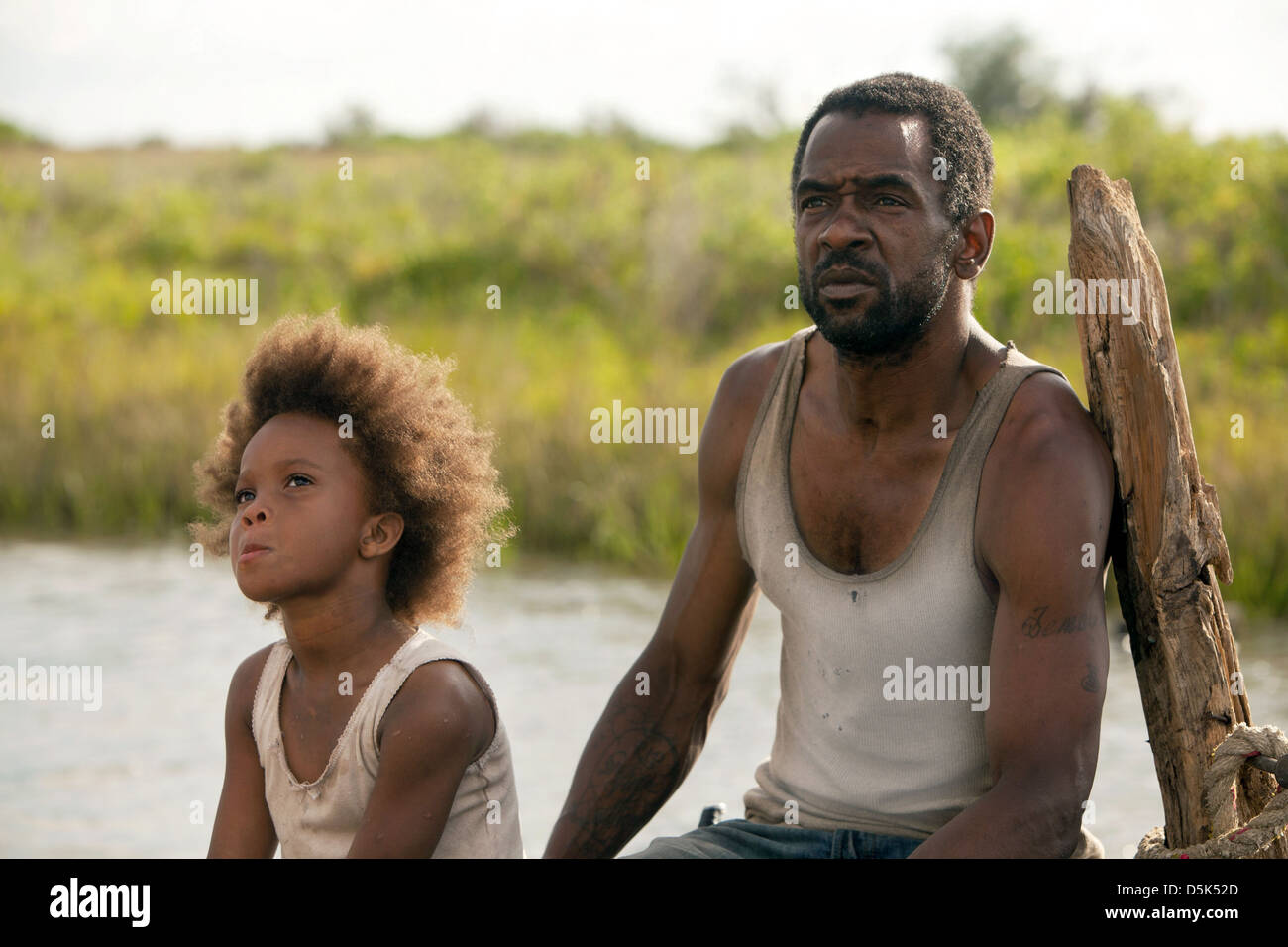 QUVENZHANE WALLIS & DWIGHT HENRY BEASTS OF THE SOUTHERN WILD (2012) - Stock Image