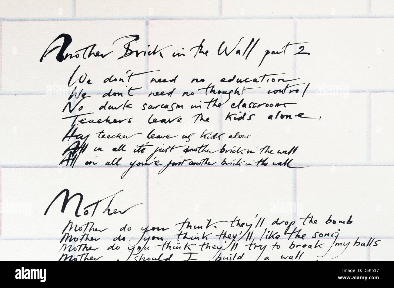 Pink Floyd – Another Brick in the Wall, Pt. 2 Lyrics ...