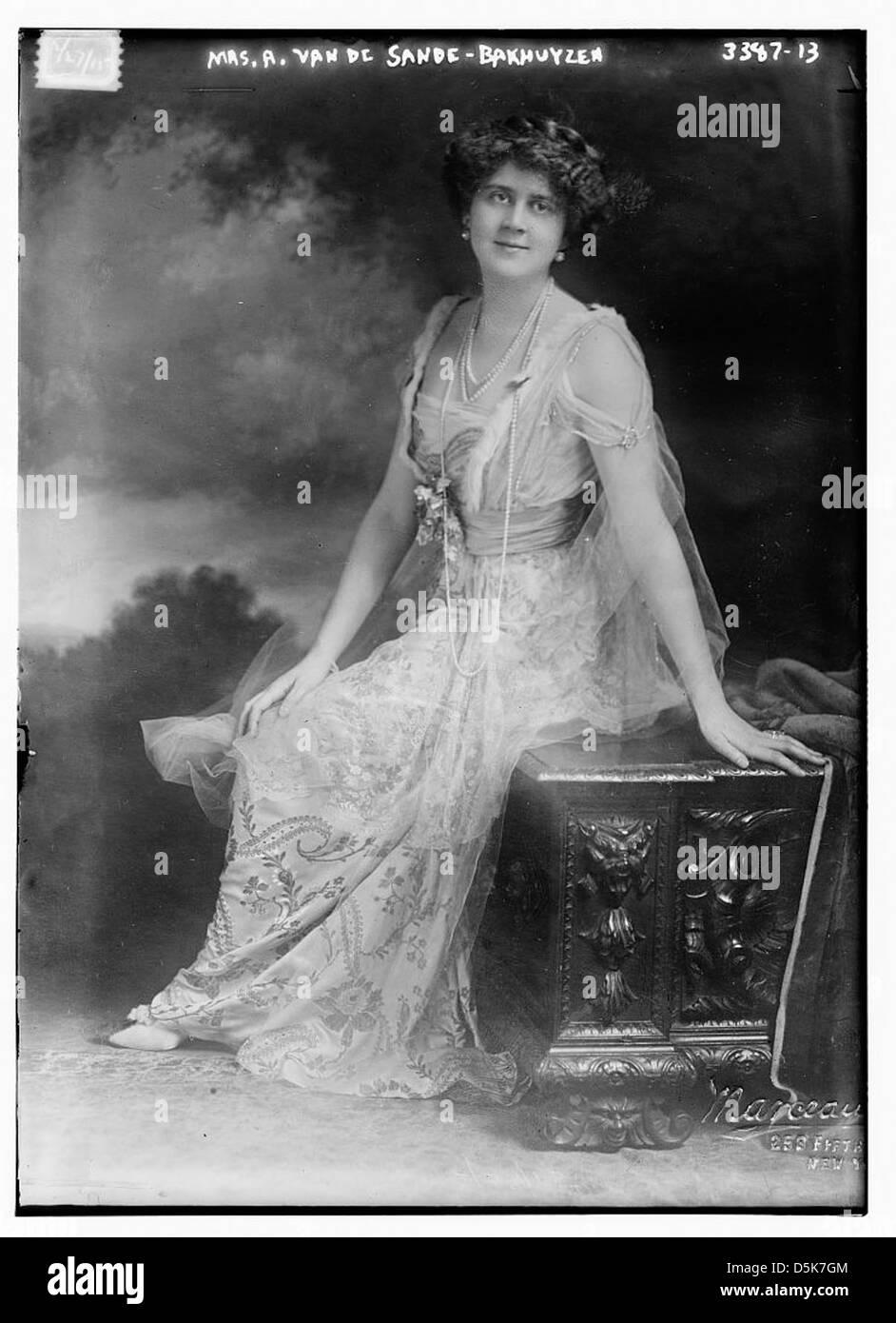 Mrs. A. Van De Sande -- Bakhuyzen (LOC) - Stock Image