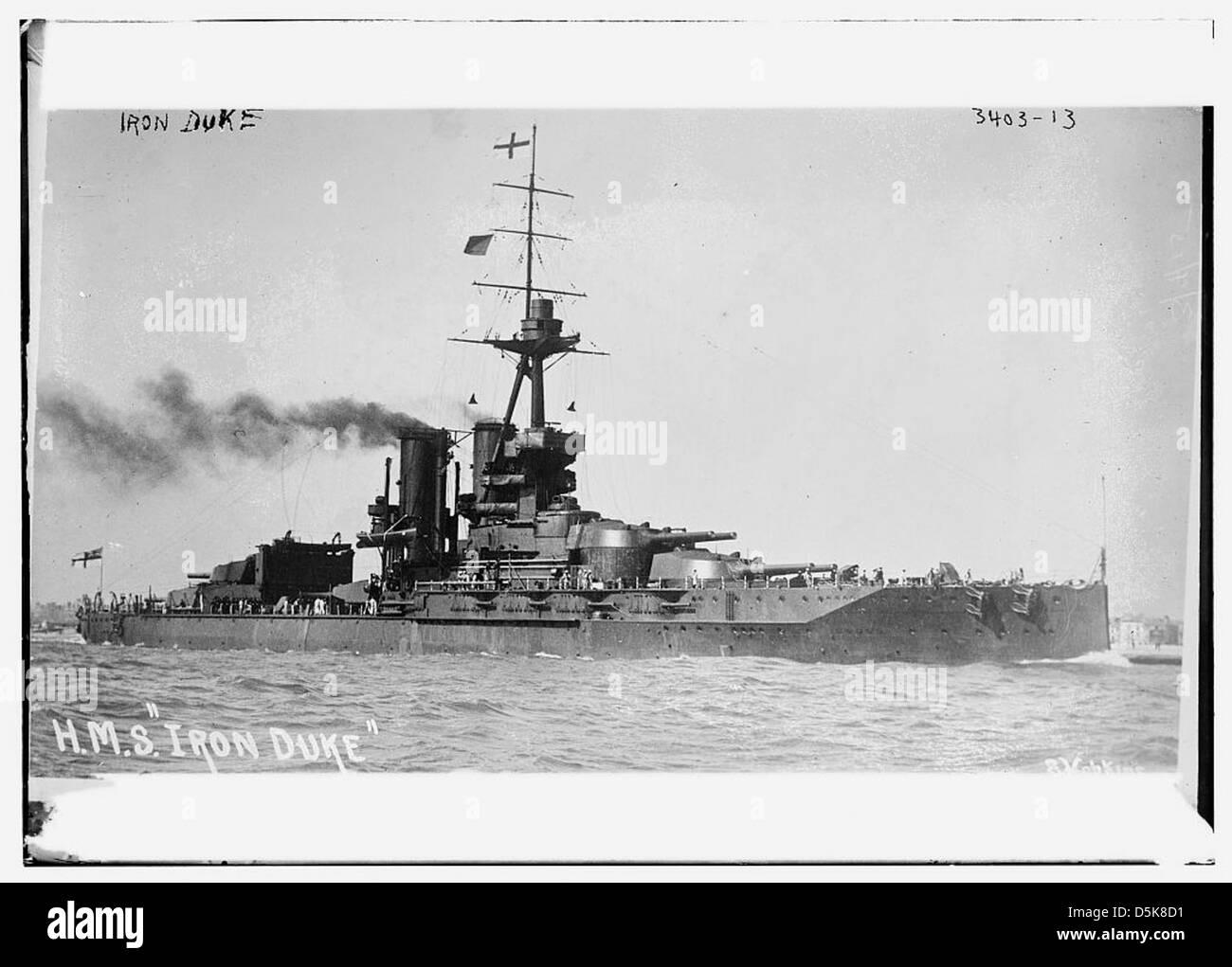 H.M.S. 'Iron Duke' (LOC) - Stock Image