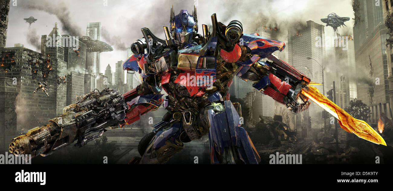 optimus prime transformers: dark of the moon (2011 stock photo