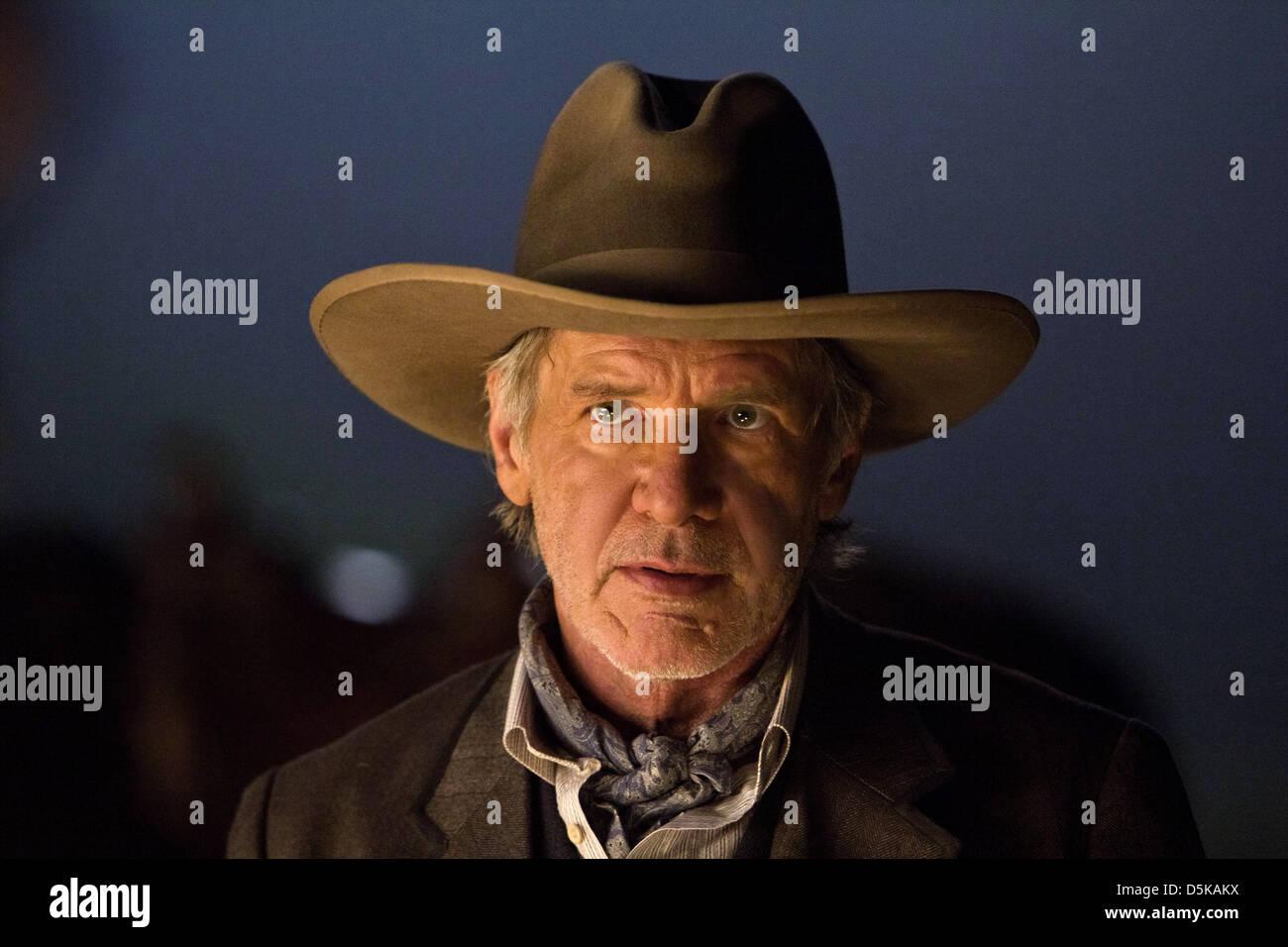 Harrison Ford Cowboys Aliens 2011 Stock Photo Alamy