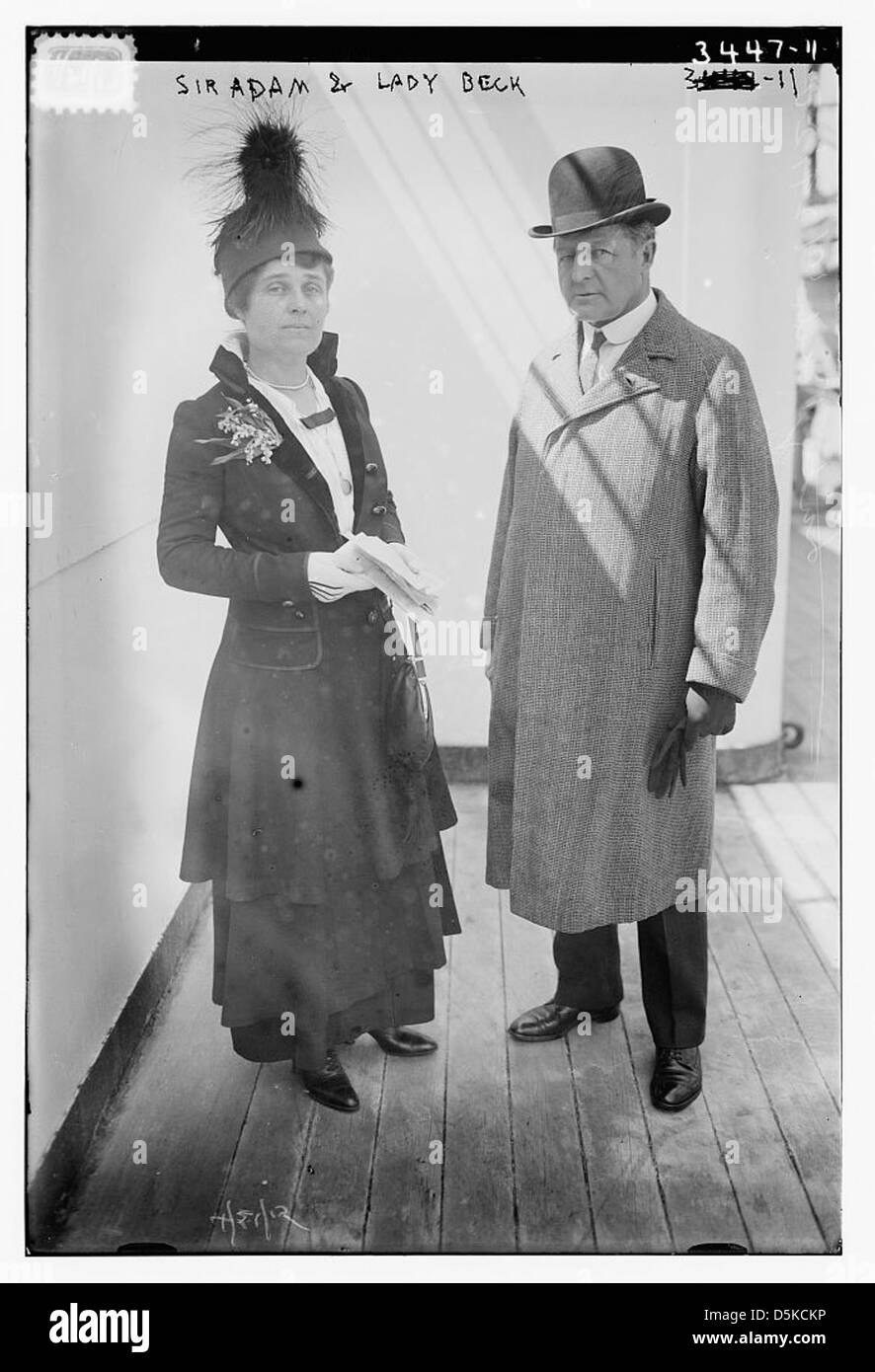 Sir Adam and Lady Beck (LOC) - Stock Image