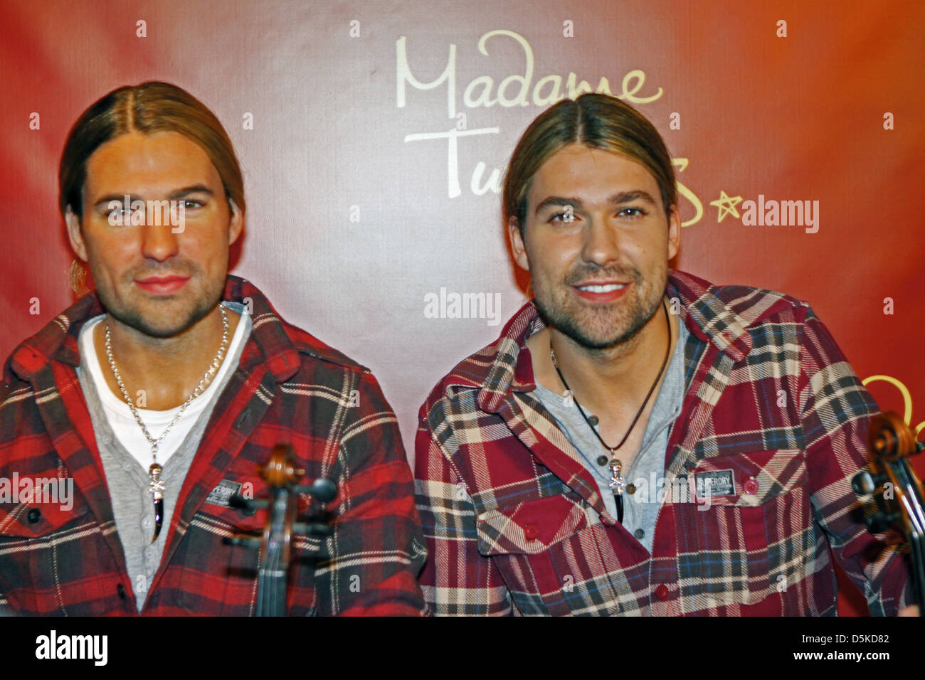 David Garrett unveils his wax figure at Madame Tussauds Berlin. Berlin, Germany - Stock Photo