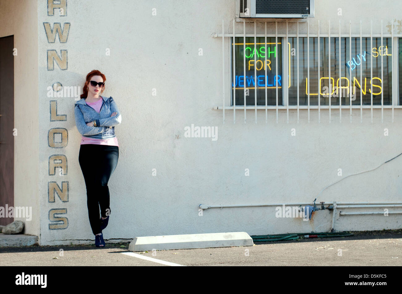CHRISTINA HENDRICKS DRIVE (2011) - Stock Image