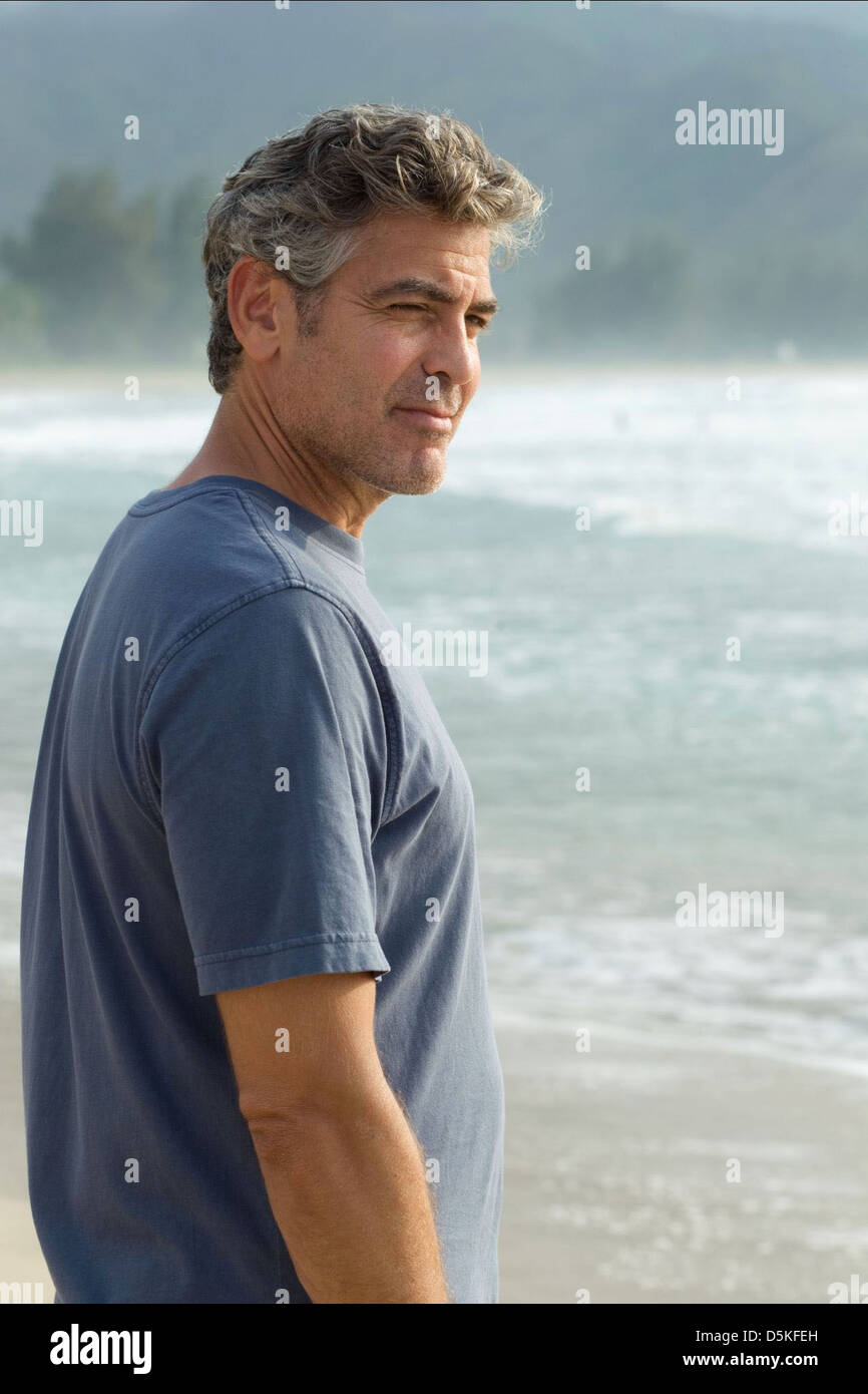 George Clooney The Descendants 2011 Stock Photo Alamy