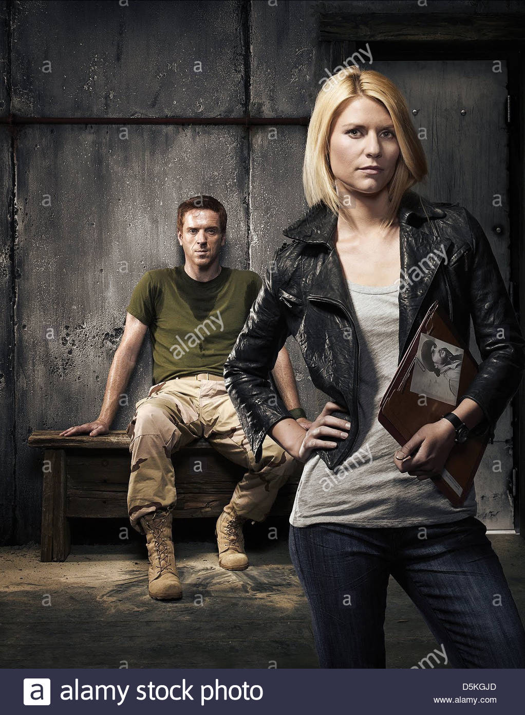 DAMIAN LEWIS & CLAIRE DANES HOMELAND (2011) - Stock Image