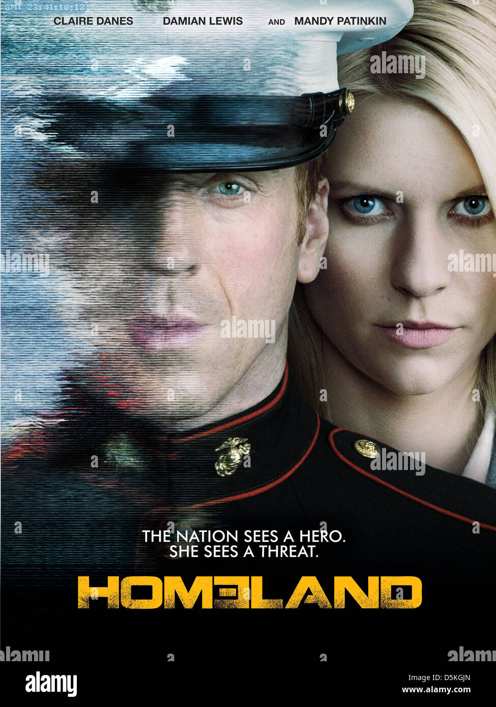 DAMIAN LEWIS & CLAIRE DANES POSTER HOMELAND (2011) - Stock Image