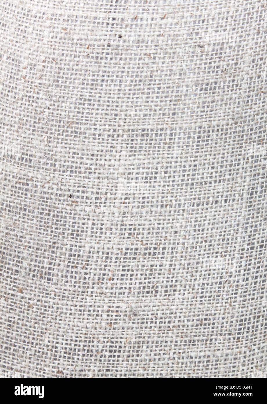 Close-up of natural burlap hessian Hemp rope - Stock Image