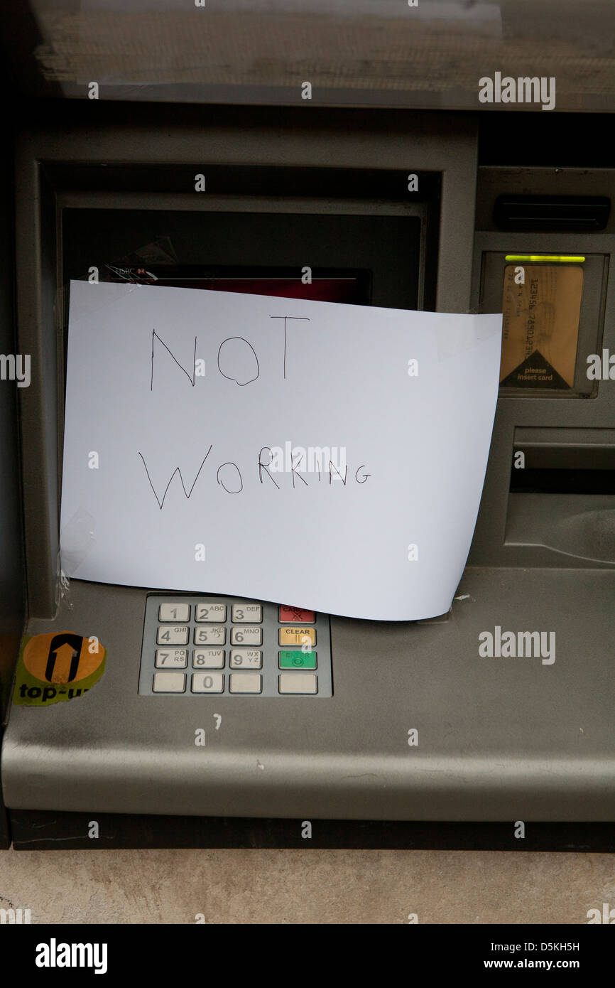 Out Of Order Atm Stock Photos Amp Out Of Order Atm Stock
