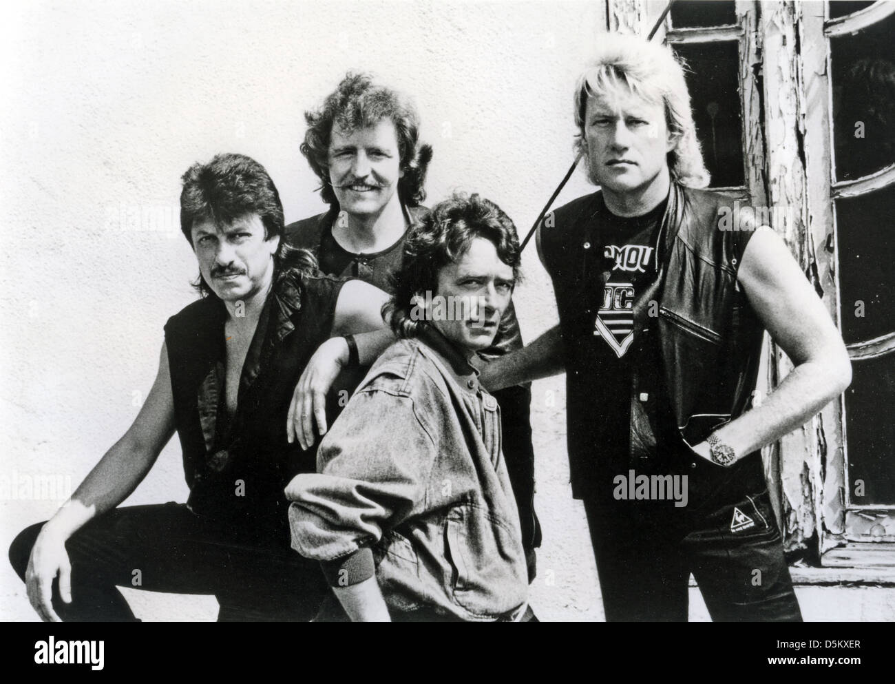 TEN YEARS AFTER  Promotional photo of UK Blues-Rock group in July 1989 - Stock Image