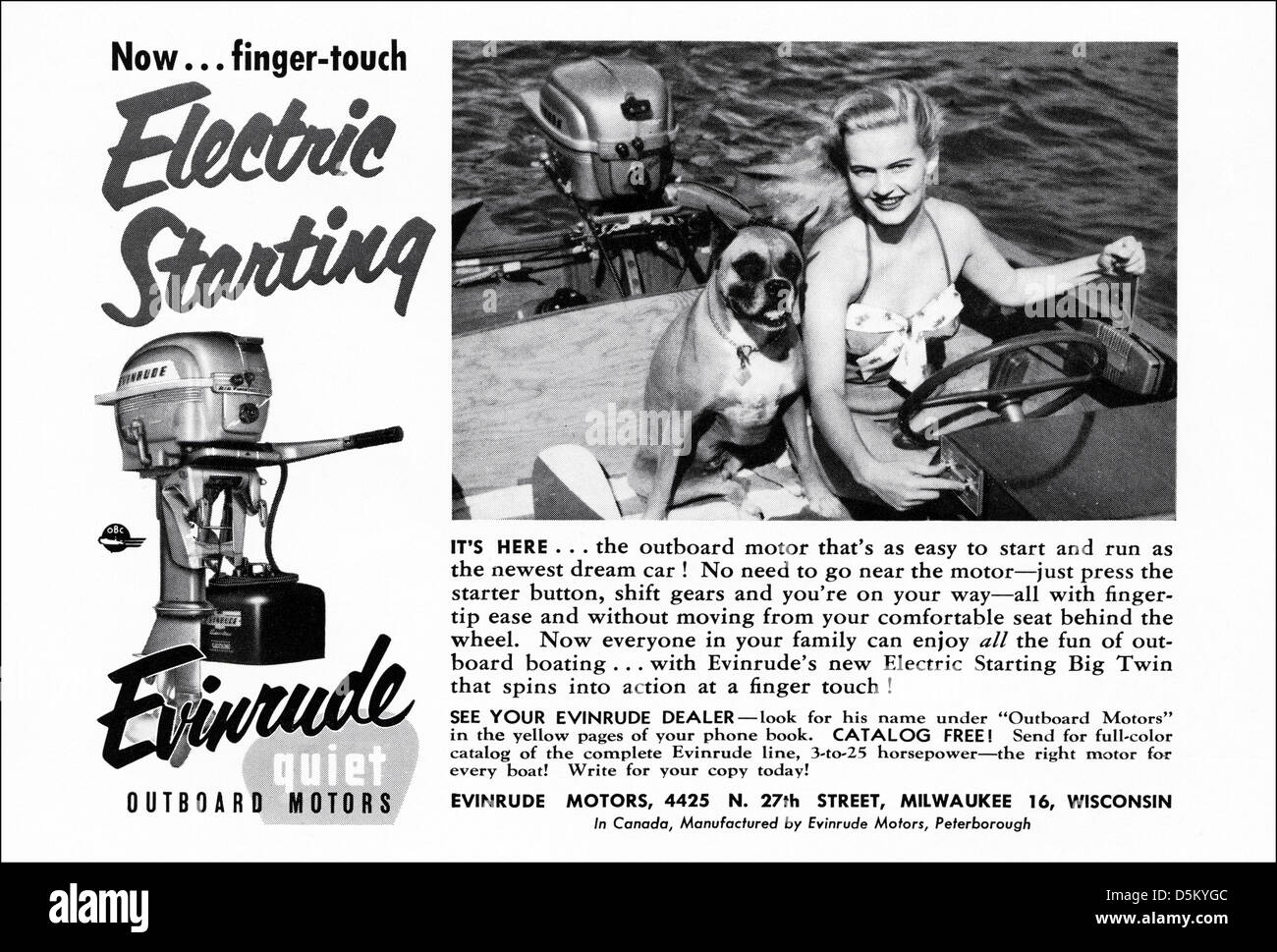 Vintage Outboard Motor Stock Photos & Vintage Outboard Motor Stock