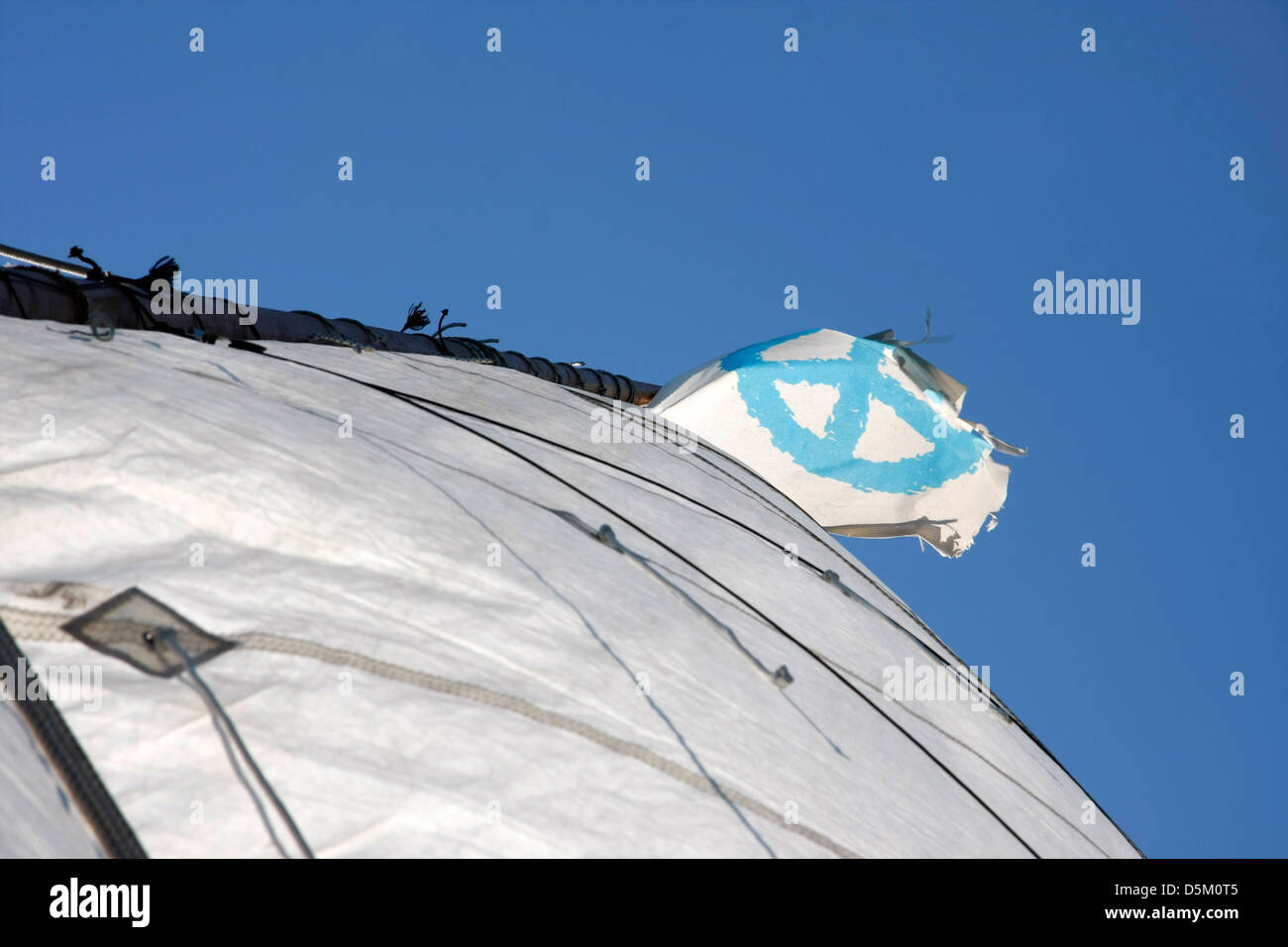 peace flag - Stock Image