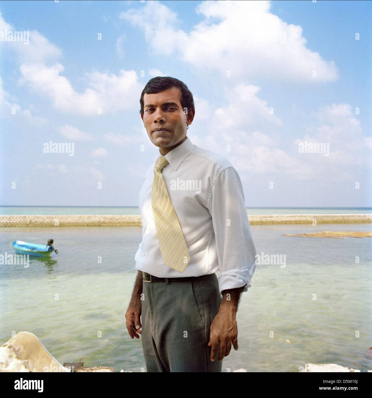 MOHAMED NASHEED THE ISLAND PRESIDENT (2011) - Stock Image