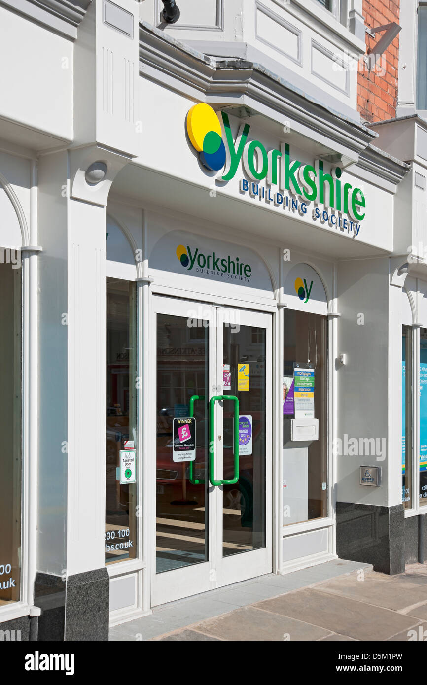 Branch of the Yorkshire Building Society Beverley East Yorkshire England UK United Kingdom GB Great Britain - Stock Image