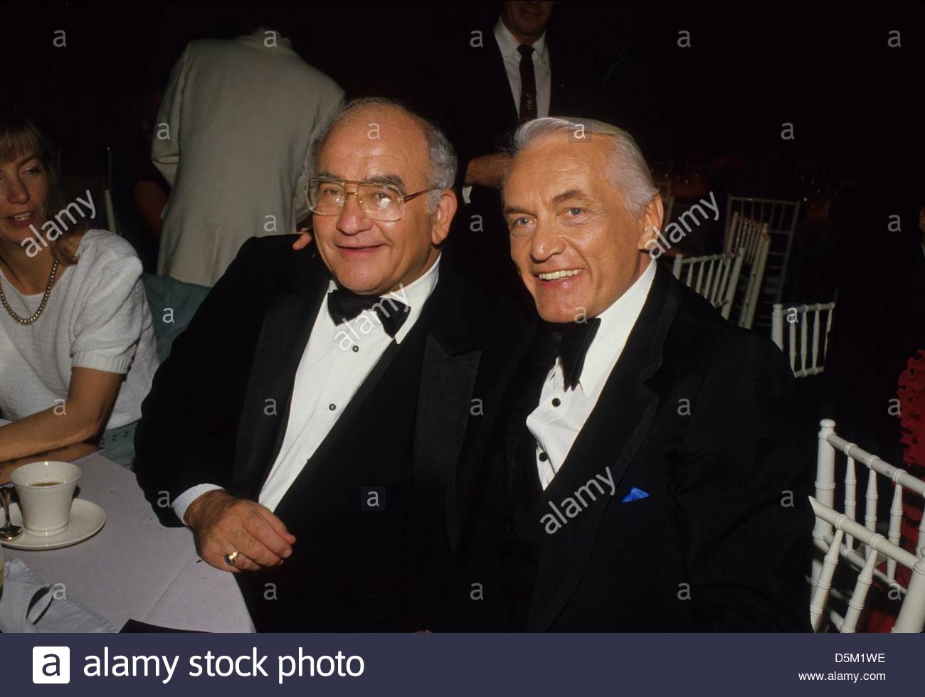 ED ASNER with Ted Knight.f2405.(Credit Image: © Ralph Dominguez/Globe Photos/ZUMAPRESS.com) - Stock Image