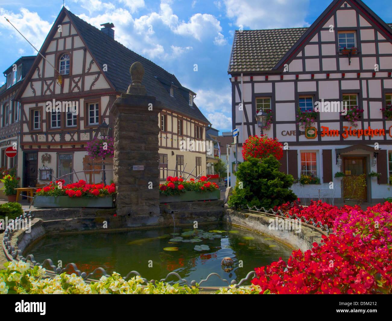 ziepchensplatz, bad honnef-rhöndorf, rhein-sieg district, nordrhein-westfalen, germany Stock Photo