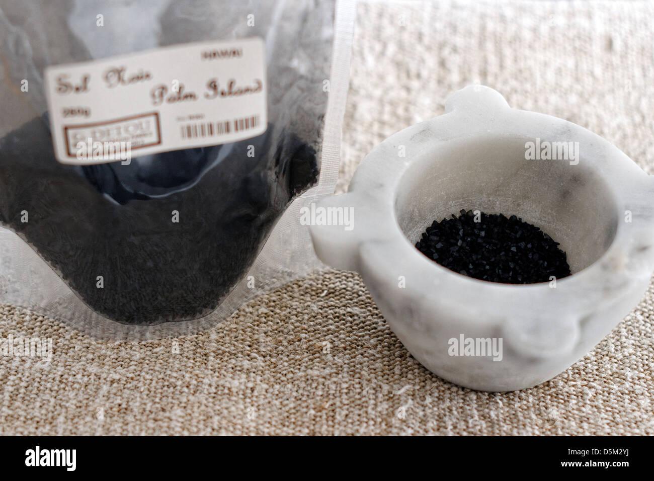 Black salt or sel noir - Stock Image