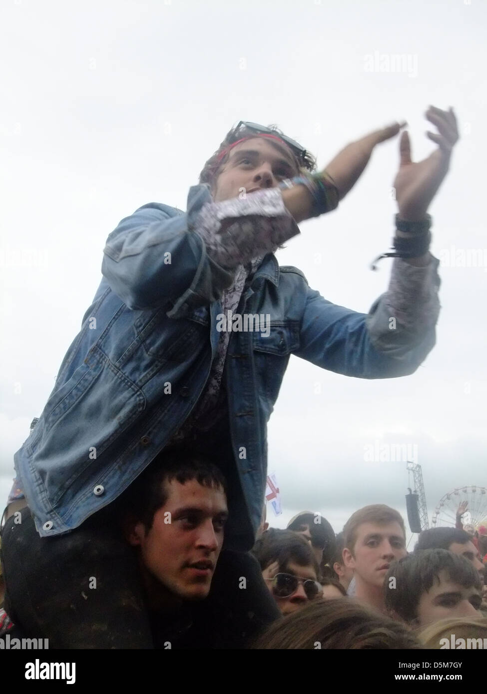 The Crowd at t in the park festival 2012. - Stock Image