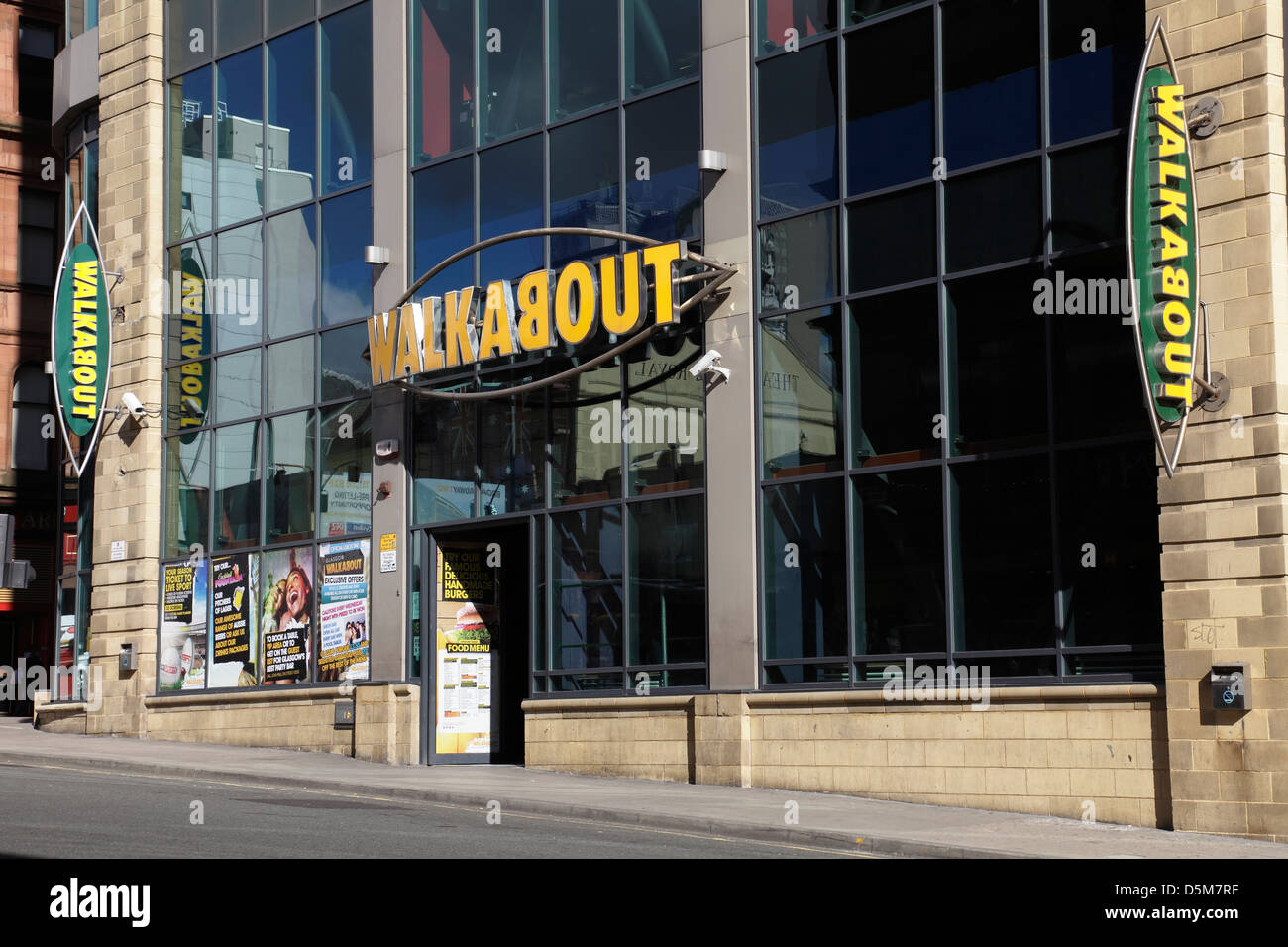 Walkabout an Australian themed bar on Renfield Street in Glasgow city centre, Scotland, UK - Stock Image