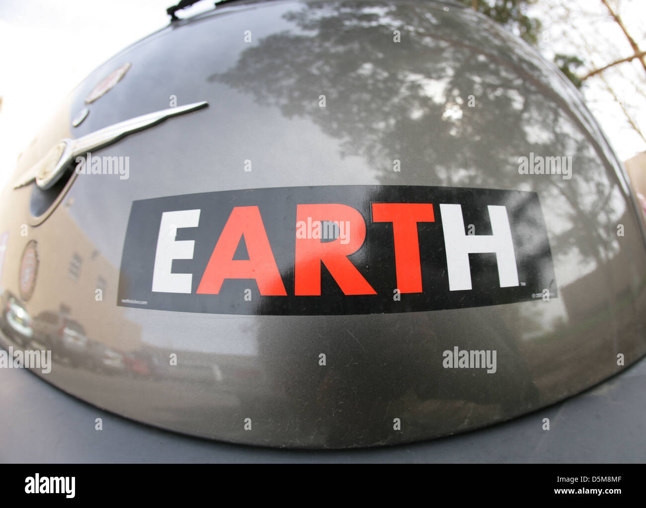 Sticker Earth Art finding a word within a word Artist - Stock Image