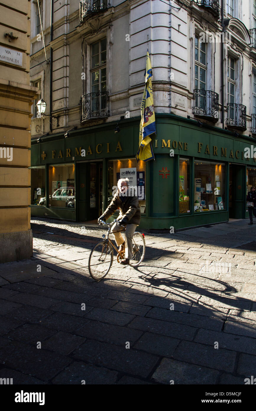 Via Giuseppe Garibaldi, the longest pedestrian street in Europe. - Stock Image