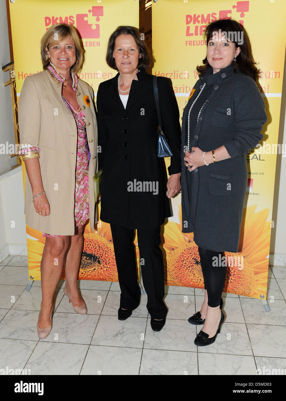 Claudia Rutt and Christina Rau and guest at the DKMS Ladies Lunch at Hotel Alliance. Berlin, Germany Stock Photo