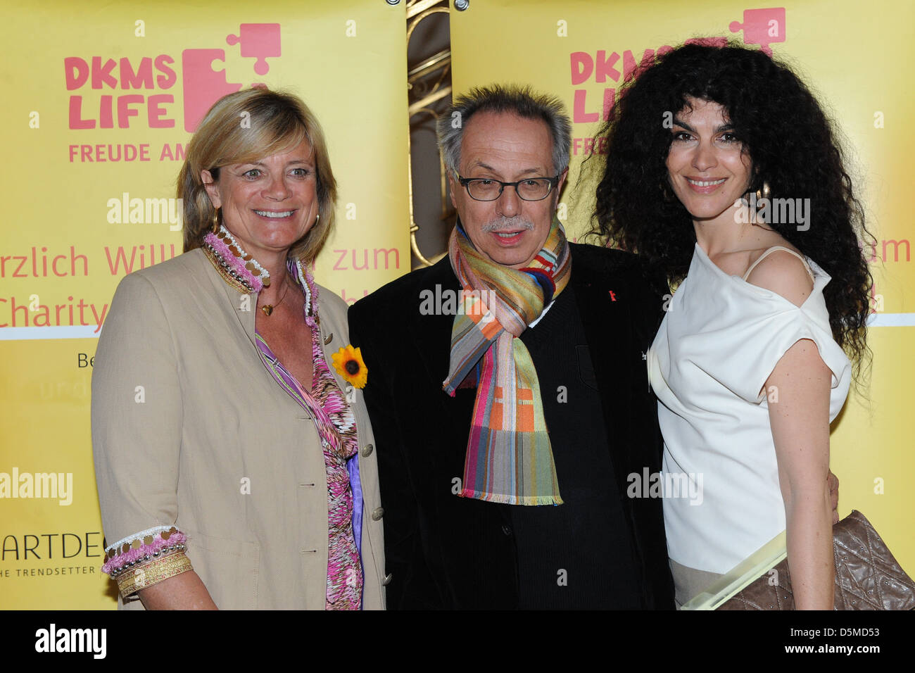 Claudia Rutt and Dieter Kosslick and Janine White at the DKMS Ladies Lunch at Hotel Alliance. Berlin Germany Stock Photo