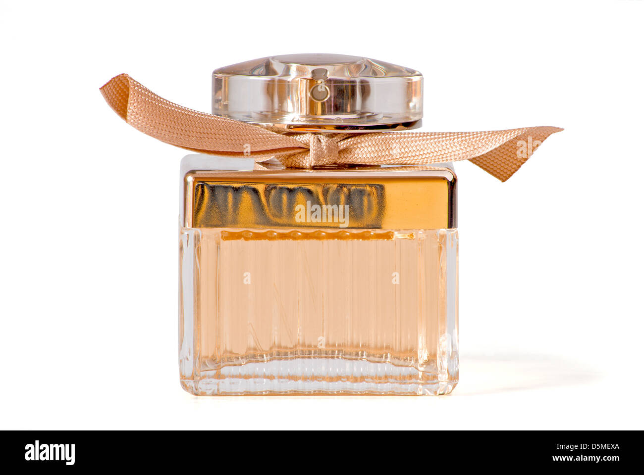 Perfume bottle on a white background. Clipping path including - Stock Image