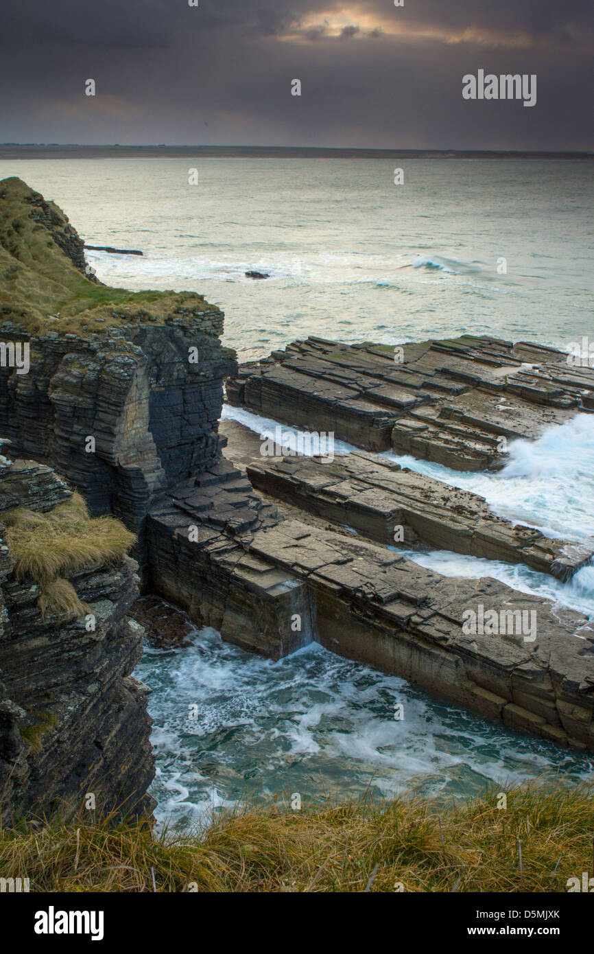 Sinclairs Bay, Caithness - Stock Image