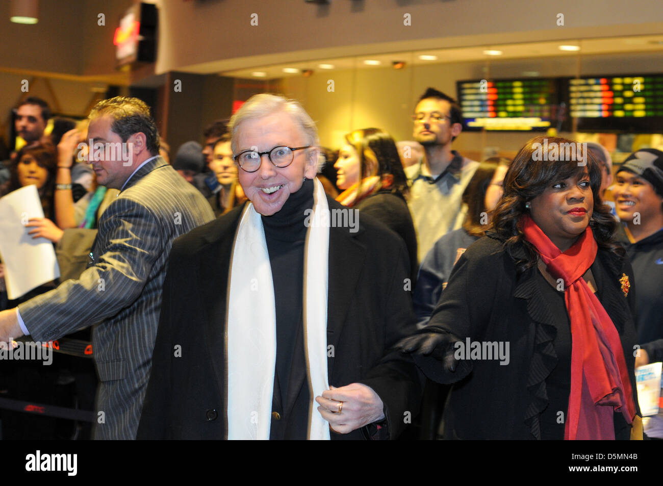 Chicago, USA. 6th January, 2011. Roger Ebert appears with his wife Chaz Hammelsmith at the premier of The Dillemma - Stock Image