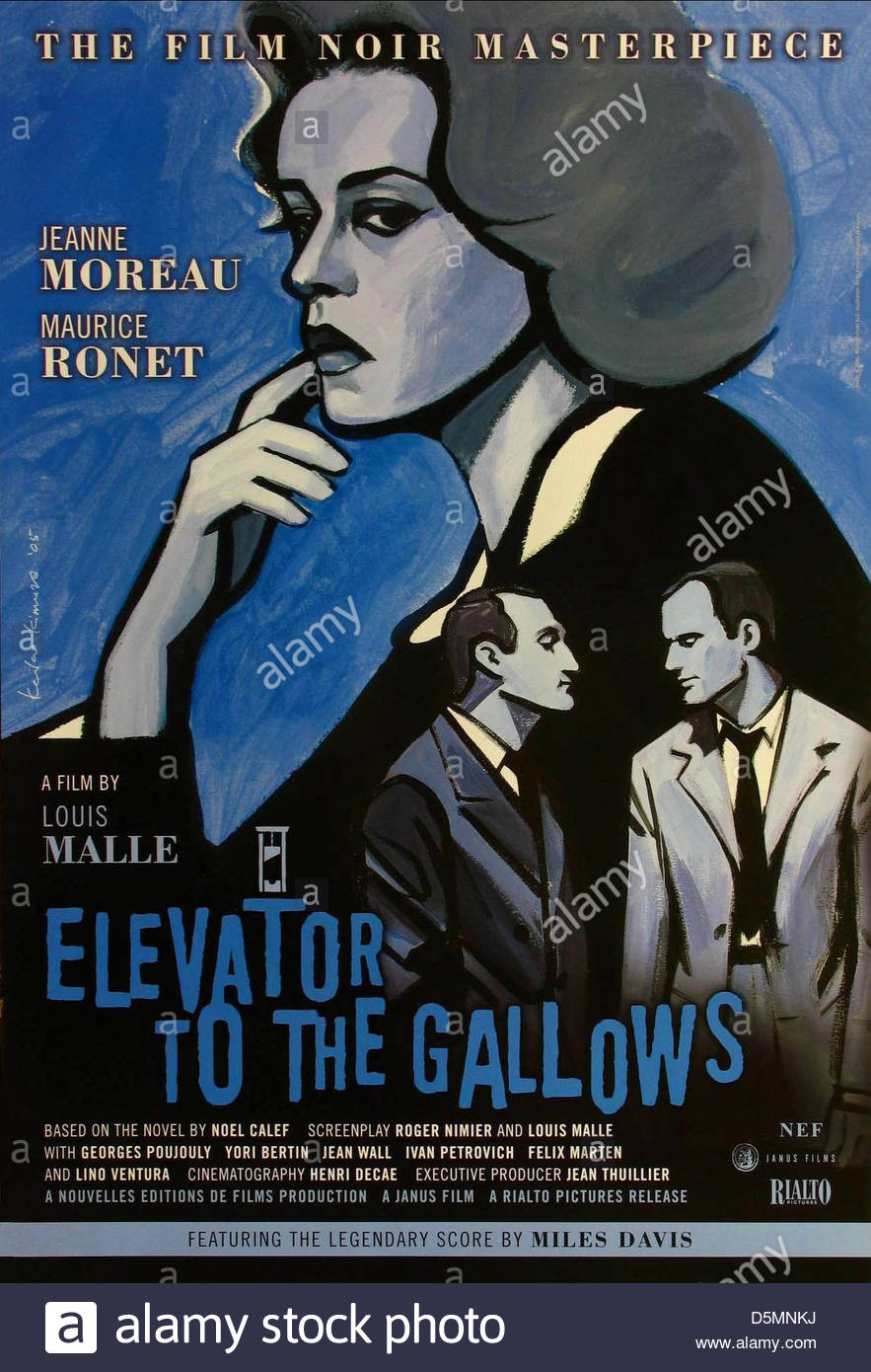 MOVIE POSTER LIFT TO THE SCAFFOLD; ELEVATOR TO THE GALLOWS; FRANTIC (1958) - Stock Image